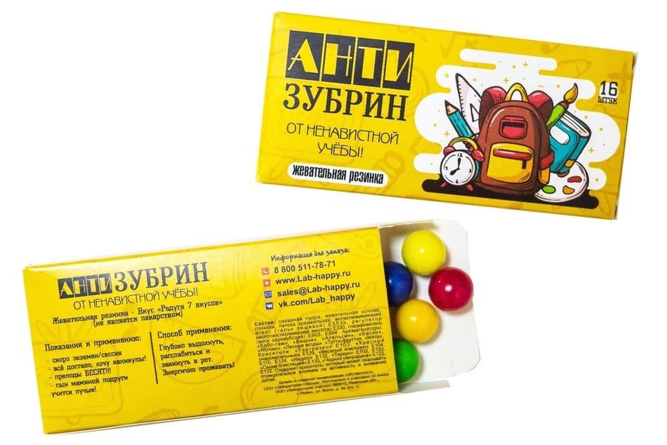 Шуточная жвачка- Анти зубрин- New