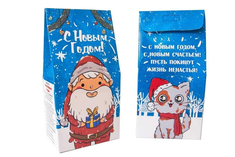 Подарочный чай- С новым годом- дед мороз.